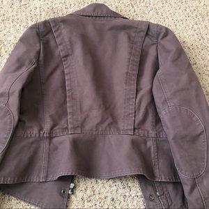Jackets & Coats - Ann Taylor Loft Biker Like Jacket Size 10 100% cot